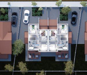 plan etaj duplex gardena